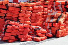 Life jackets save life's Stock Images