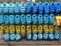 Life Jackets at Water Park Royalty Free Stock Photography