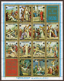 Life Of Jesus Christ, The Station of The Cross - Postage.jpg. Post Age of Life Of Jesus Christ and The Station of The Cross Stock Photography
