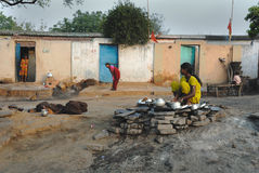 Life at the Jharia coalmines area in India Royalty Free Stock Photo