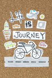 Life is a journey inspirational quote design. Life is a journey design Stock Images