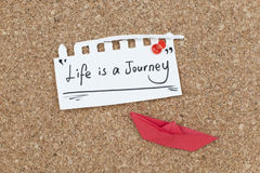 Life is a journey inspirational quote design Royalty Free Stock Images