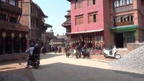 Daily life on a Kathmandu street circa stock video footage