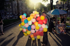 Life in Khreshchatyk Street, kiev ,Ukraine Royalty Free Stock Photos