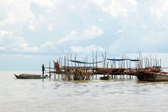 Life on the Lake (The Tonle Sap ) Stock Image