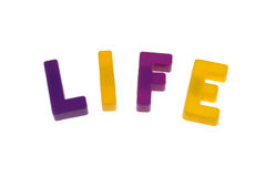 Life letters Stock Photography