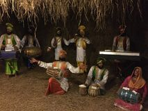Life like wax sculpture of folk dancers from Punjab Stock Photography