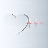 Life Line coming from Heart Royalty Free Stock Photography