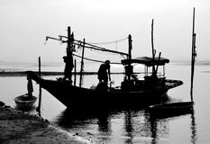 Life with local fishermen Royalty Free Stock Photography
