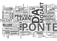 A Life Of Lorenzo Da Ponte Talent Flies Practical Reason Walks Word Cloud Stock Photo