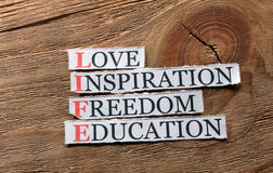 Life love inspiration stock photo