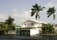 Life of luxury on the Belize River Stock Photo