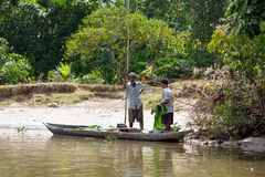 Life in madagascar countryside on river Royalty Free Stock Images