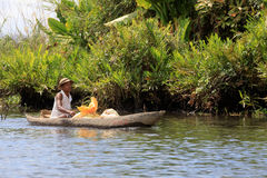 Life in madagascar countryside on river Stock Images