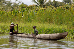 Life in madagascar countryside on river Stock Photography