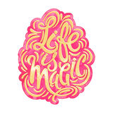 Life is magic concept hand lettering motivation poster. Royalty Free Stock Photo