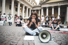 269 life manifestation in Milan on September, 26 2013 Royalty Free Stock Photo