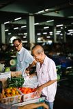Life in market, Borneo Malaysia royalty free stock images