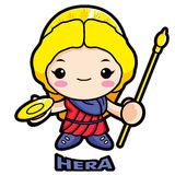 The life and marriage of the goddess Hera Stock Photo