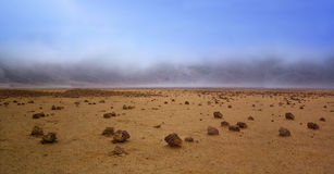 Life on Mars. Barren landscape of the planet Mars Royalty Free Stock Images