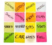 Life Matrix, life priorities Stock Image