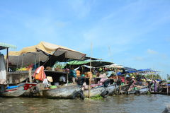 Life in Mekong Delta, Vietnam Royalty Free Stock Photography