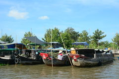Life in Mekong Delta, Vietnam Royalty Free Stock Images