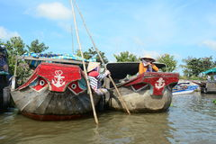 Life in Mekong Delta, Vietnam Royalty Free Stock Photo