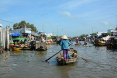 Life in Mekong Delta, Vietnam Royalty Free Stock Image