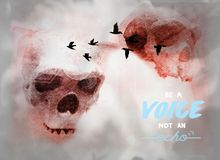 Life message for humanity: be a voice vector illustration