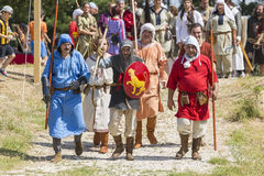 Life in the Middle Ages. ASENVOGRAD, BULGARIA - JUNE 25, 2016 - Medieval fair in Asenovgrad recreating the life of Bulgarians during the Middle ages royalty free stock image
