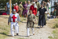 Life in the Middle Ages. ASENVOGRAD, BULGARIA - JUNE 25, 2016 - Medieval fair in Asenovgrad recreating the life of Bulgarians during the Middle ages royalty free stock photography