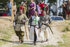 Life in the Middle Ages. ASENVOGRAD, BULGARIA - JUNE 25, 2016 - Medieval fair in Asenovgrad recreating the life of Bulgarians during the Middle ages royalty free stock photos