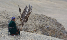 Life of the Mongolian eagle hunter 8 Stock Photography