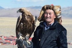 Life of the Mongolian eagle hunter 9 Royalty Free Stock Photos