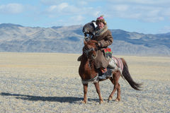 Life of the Mongolian eagle hunter 10 Royalty Free Stock Images