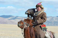Life of the Mongolian eagle hunter 11 Royalty Free Stock Photos