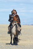Life of the Mongolian eagle hunter 12 Stock Image