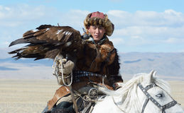 Life of the Mongolian eagle hunter 14 Stock Images