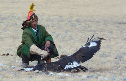 Life of the Mongolian eagle hunter 20 Royalty Free Stock Photos