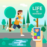 Life is movement Royalty Free Stock Photos