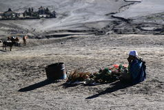 Mt Bromo local business Indonesia Stock Images