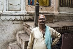 Varanasi streets, India royalty free stock images