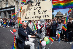 Life with No Regrets in Brighton Gay Pride 2011 Royalty Free Stock Photos