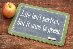 Life is not perfect, but it sure is great Royalty Free Stock Photo