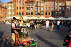 life in the old town of Warsaw Stock Image