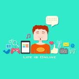 Life is Online Royalty Free Stock Photo