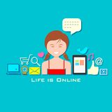Life is Online Royalty Free Stock Images