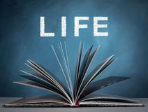 Life. Open a book for imagination of world wide , life and  knowledge Stock Photography