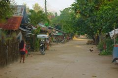 Life in the Philippine countryside. Siargao Island Royalty Free Stock Photography